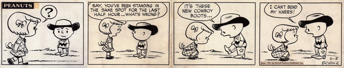 peanuts daily strip 11-5-51 - sold